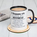 Five Reasons Why I Love You Personalised Mug