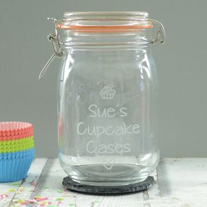 Cupcake Cases Personalised Storage Jar - kitchen accessories