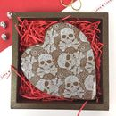 Milk Chocolate Heart With Skull Design