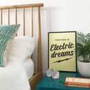 Together In Electric Dreams Typographic Print