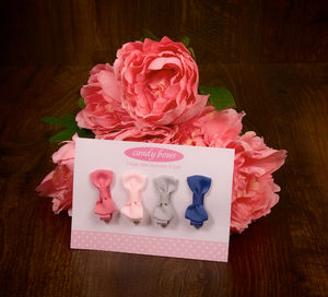 Mini Hair Bow Gift Set - bridesmaid accessories