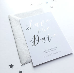 Foiled Save The Date - save the date cards