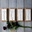 Single, Mini Cow Parsley Plaster Cast Wall Art