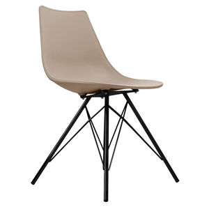 Oslo Chair Beige With Black Metal Legs