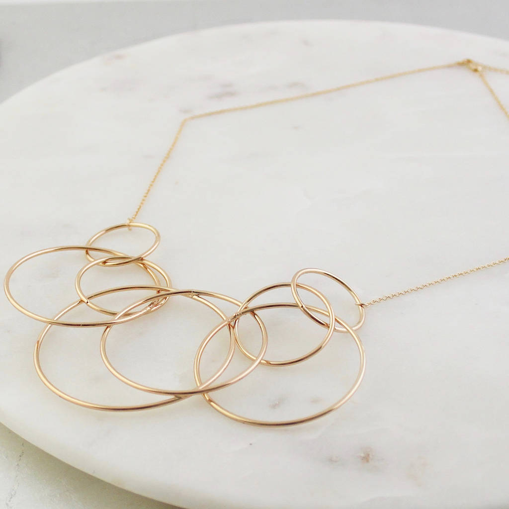 Statement Hoops Necklace