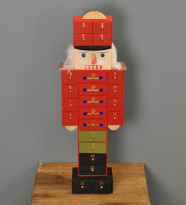 Nutcracker Wooden Advent Calendar - art & decorations