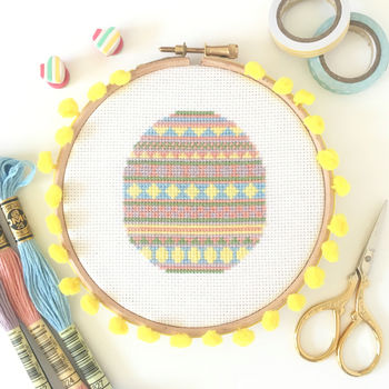 Pastel Egg Cross Stitch Kit