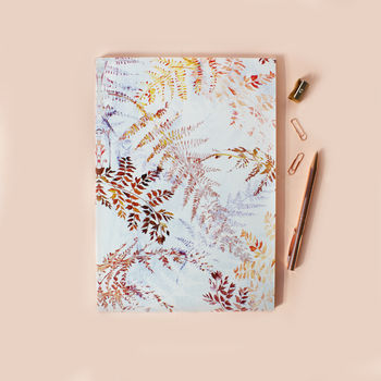 A4 Snowflake Ferns Notebook