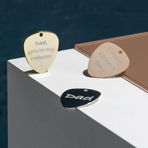 Personalised Contemporary Guitar Plectrum - best father's day gifts