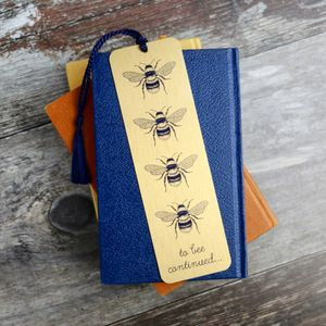 Bee Design Bookmark - book lover