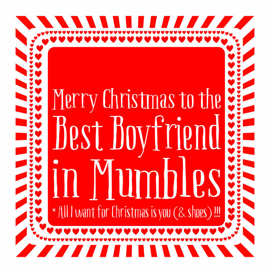 personalised best boyfriend christmas card - Boyfriend Christmas Card