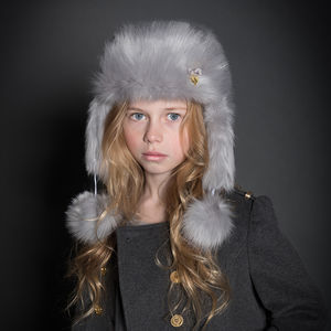 Angel's Face Trapper Faux Fur Hat - hats, scarves & gloves