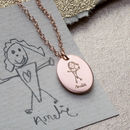 Personalised My Favourite Drawing Oval Disc Necklace