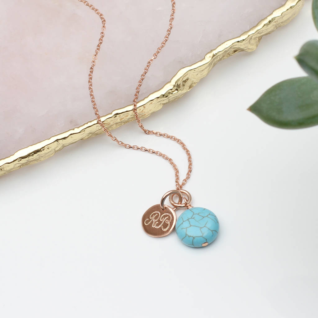 47154c528f6a7b rose gold or sterling silver and turquoise necklace by hurleyburley ...