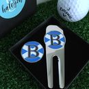 Personalised Initial Scotland Golf Tool And Marker Set