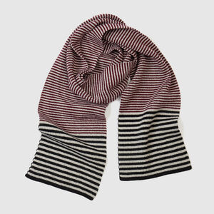 Striped Lambswool Scarf | Currant