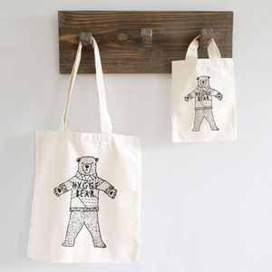 Hygge Bear Bag X2 Sizes - cards & wrap