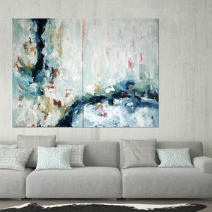 Epiphany Large Abstract Two Piece Painting - modern & abstract