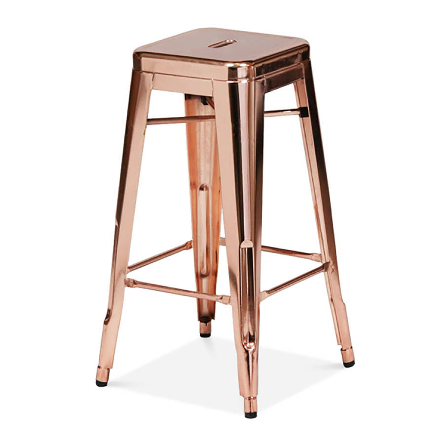 A Copper Industrial Bar Stool By Cielshop