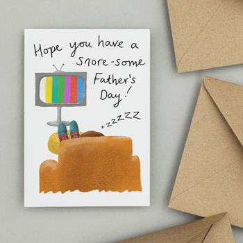 SNORE SOME FATHERS'S DAY CARD