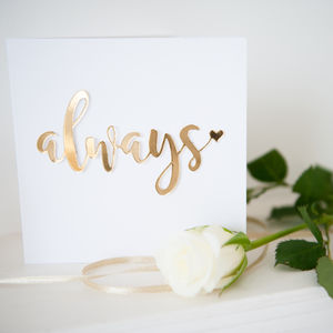 'Always' Card - anniversary cards
