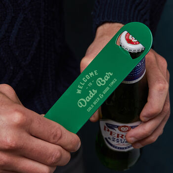 Personalised Metal Beer Bottle Opener For Dad