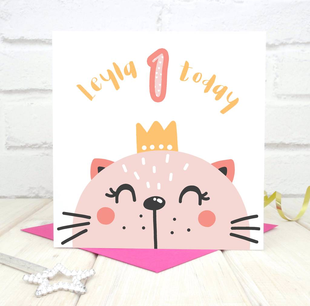 Personalised 1st Birthday Card Daughter