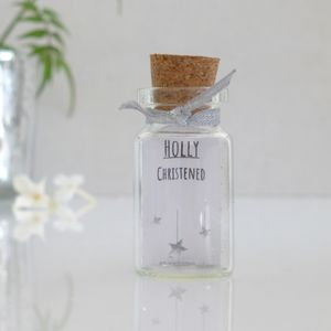 Christening Gift Mini Message Bottle