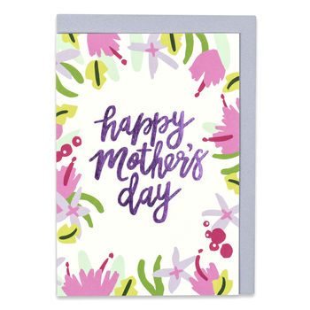 'Happy Mother's Day' Floral Card