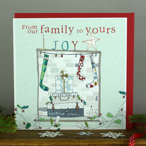 Our Family To Yours Christmas Card - cards & wrap