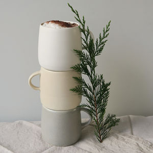 Hand Thrown Stoneware Ceramic Pottery Mug - housewarming gifts