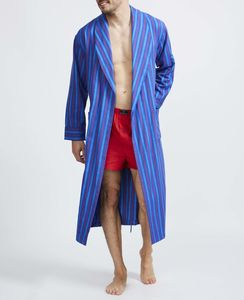Men's Jester Stripe Two Fold Flannel Robe - men's fashion