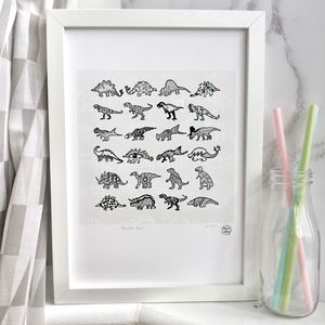 'Dinosaur Race' Giclee Print - animals & wildlife