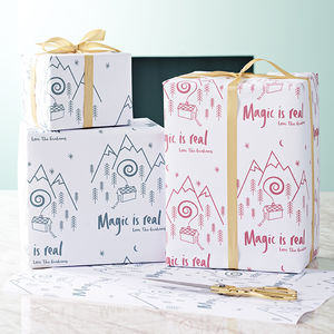 Magic Is Real Personalised Christmas Gift Wrap Set - wrapping
