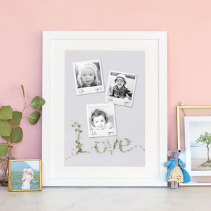 Personalised Baby Photo Age Milestone Print - photography & portraits for children