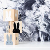 Wooden Rabbit Play Cubes - toys & games