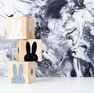 Wooden Rabbit Play Cubes - new modern toys