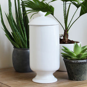 White Ceramic Little Bird Jar - kitchen accessories