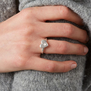 North Star Heart Ring