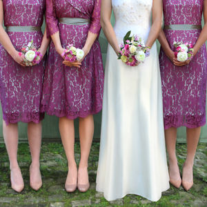 Bespoke Rose Lace Bridesmaid Dresses - bridesmaid dresses