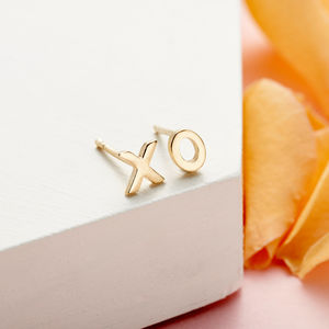 Handmade 9k Gold Hugs And Kisses Earrings - view all new