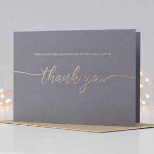 Make A Wish To Say Thank You Card - wedding stationery