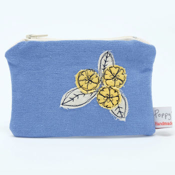 Cornish Wild Flowers Primrose Coin Purse