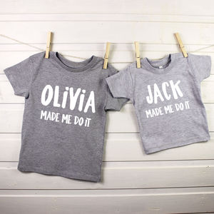 Made Me Do It Personalised Childrens Clothing Set - clothing