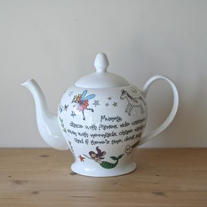 Personalised Unicorn, Mermaid And Rainbow Teapot