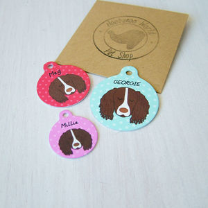 Springer Spaniel Pet ID Tag - dogs