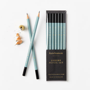 Teal 4 B Pencil Set