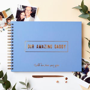 Personalised 'Amazing Dad' Memory Book - father's day gifts