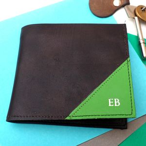 Leather Wallet With Embossed Personalisation - personalised gifts for dads