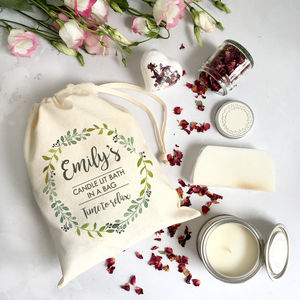 Personalised 'Candlelit Bath In A Bag' Spa Kit - bathroom